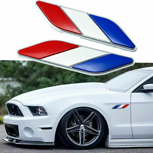 2x French France Flag Emblem Decal Badges for Car Side Door Fender Trunk Grill