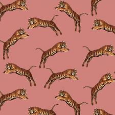 Paloma Maison Fonçant Tigre Malicieux Gros Chat Exotique Peint - Rose 921601