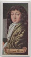 Samuel Pepys Royal Navy Of England Admiralty 80+ Y/O Trade Ad Card