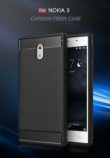 Handy Hülle für Nokia 3 Case Schale TPU dünn schwarz Armour schocksicher 2.Haut