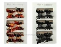 6 Mini Butterfly Hair Clips Clamps Claws Grips In Black or Tortoiseshell