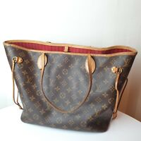 Louis Vuitton Neverfull MM Monogram Canvas Tote Bag M41178 CA3166