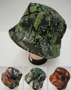 72 Lot Camouflage Hardwood Leafy Tree Camo Bucket Hats for Fishing & Hunting