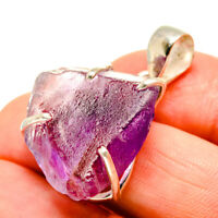 """Amethyst 925 Sterling Silver Pendant 1 1/2"""" Ana Co Jewelry P752087"""
