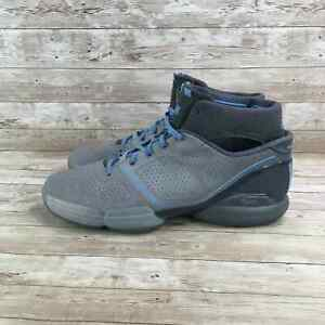 Adidas Adizero D Rose 1 Mens Size 11.5 Gray Blue Athletic Basketball Sneakers
