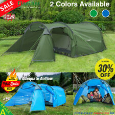 4-Person Camping Tunnel Tent Waterproof Family Awning Outdoor Hiking Sun Shelter