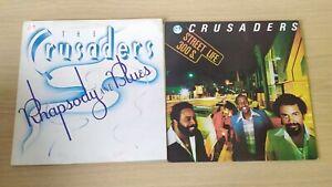 2xVinyl LP Album The Crusaders Rhapsody And Blues Street Life 300 MCA 1979 1980