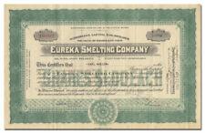 Eureka Smelting Company Stock Certificate
