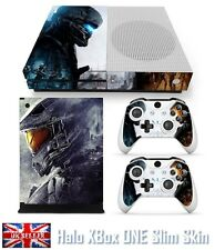 Halo Master Chief Xbox ONE S Skin Console + 2 Controllers Vinyl Sticker Decal