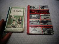Ancien Manuel Scolaire Livre d'école Claude & Antoinette/Pages d'Action Lecture
