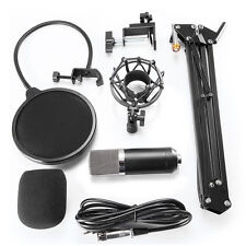 Condenser Microphone MIC Sound Studio Recording Stand Pop Filter Windscreen Arm