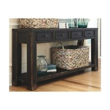Signature Design Rectangular Black Sofa Table Furniture, Home Decor Living Room