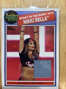 WWF WWE 2015 Topps Authentic Mat Relic Card Nikki Bella Money Bank Hot Diva