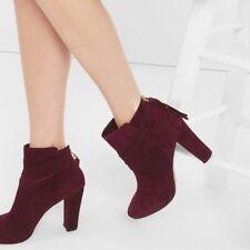 WHBM Suede Tassel Boots size 6.5 in Dark Burgundy Style: 570183662