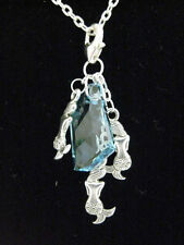 Girls H2O Just Add Water Mermaid Charm Swarovski® Blue Crystal Necklace