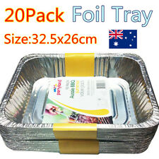 Foil Aluminum Disposable Roasting Silver Trays For BBQ Baking Oven Party Bulk