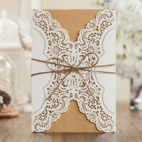 Rustic Personalized Laser Cut Wedding Invitation Card Kit Quinceanera Shower