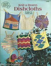 Knit a Dozen Dishcloths Knitting Patterns American School of Needlework 1250 NEW