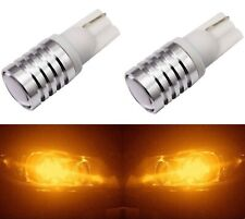 LED Light 5W Amber Orange 194 T10 Two Bulbs License Plate Replace JDM Fit Show