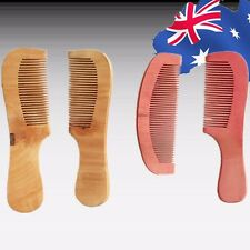 2pcs Set Wide Tooth Hair Comb Women Lady Natural No-static Wooden Jhcom6659