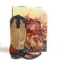 Old Gringo Yippee Ki Yay Women Texas Flag Star Distressed Cowboy Boots Sz 6.5 B