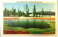 1945 Postcard Emerald Pool Yellowstone National Park
