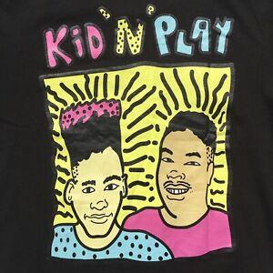 NEW Kid N Play 80s 90s Hip Hop Rap Retro Mens T Shirt Medium Black BNWT Funhouse