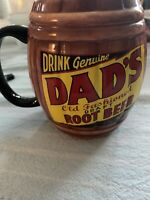 Dad's Barrel Mug Drink Genuine Dad's Old Fashioned Draft Root Beer Ceramic Cup