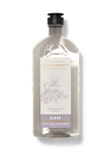 Bath and Body Works Aromatherapy Sleep Cedarwood + Vanilla Wash & Foam Bath 10oz