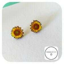 Sunflower Stud Earrings 🌻wooden 🌻Flowers☀️20mm