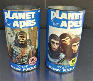 """Two Vintage Planet of the Apes 10"""" x 14"""" Jigsaw Puzzles"""