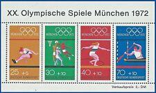 B.2 - BRD Bund Olympische Spiele München 1972 Mi.734-737 Block8 postfrisch TOP!
