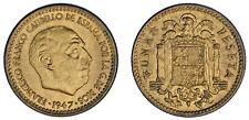 1 PESETA. Cu. FRANCO (ESTADO ESPAÑOL). 1947*19-50.  UNC/SC. VERY RARE-MUY RARA.