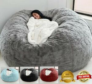 7FT Foam Giant Bean Bag Memoria Sala de estar Silla Lazy Sofa Soft Cover Comfort
