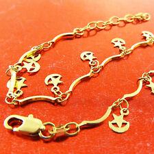 Fsa785 Genuine Real 18K Yellow G/F Gold Ladies Moon Star Xl Bracelet Anklet