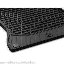 Mercedes Benz Original Rubber Floor Mats Black RHD W 222 S Class NIP