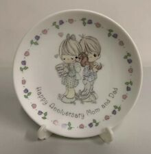 Precious Moments - Happy Anniversary Mom and Dad Porcelain Plate w/ Easel 231134