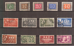 PAX-Satz, 13 Werte, Nr. 447-59, gestempelt, Attest, Walter ABT, BPP, Mi. € 1000