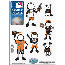 Baltimore Orioles Family Decals 6 Pack (NEW) Auto Car Stickers Emblems MLB