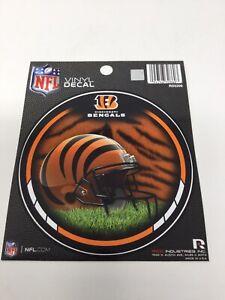 """Lot Of 3 ~ Cincinnati Bengals NFL Round Vinyl Decal Stickers ~ 4.5"""" New"""
