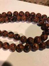 16 Inch Strand 12mm Blue And Brown Goldstone Beads L@@K SALE
