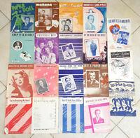 Lot of 19 Vintage 1940's Sheet Music -Jazz Pop-Antique 40s-Art Covers-#2