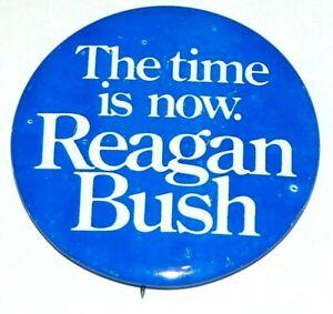 """1980 RONALD REAGAN GEORGE BUSH 2.25"""" INCH campaign pinback button political"""