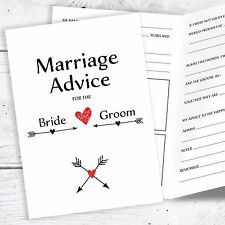 Wedding Advice Cards for the Bride and Groom - Marriage Reception Game
