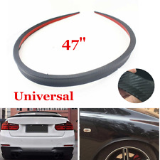 "1.2M/47"" Flexible Car Rear Roof Lip Spoiler Lip Wing Trim Sticker Carbon Fiber"