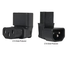 IEC 60320 C14 to Down Angle IEC 60320 C13 Plug Adapter, 10A, 250V