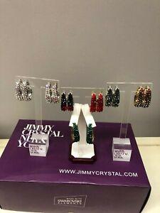 Brand New Jimmy Crystal New York Swarovski Hoop Earrings