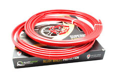 """Alloygator Exclusive Alloy Wheel Rim Protection Bands RED 4 pcs set 12""""-24"""""""
