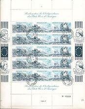 MALI Large 1975 AIR Revolution Sheets Used x 2 (AU10508)