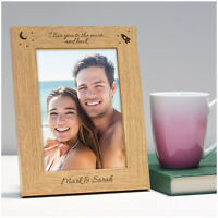 PERSONALISED Wedding Anniversary Birthday Photo Frame Gifts for Her Him Couples